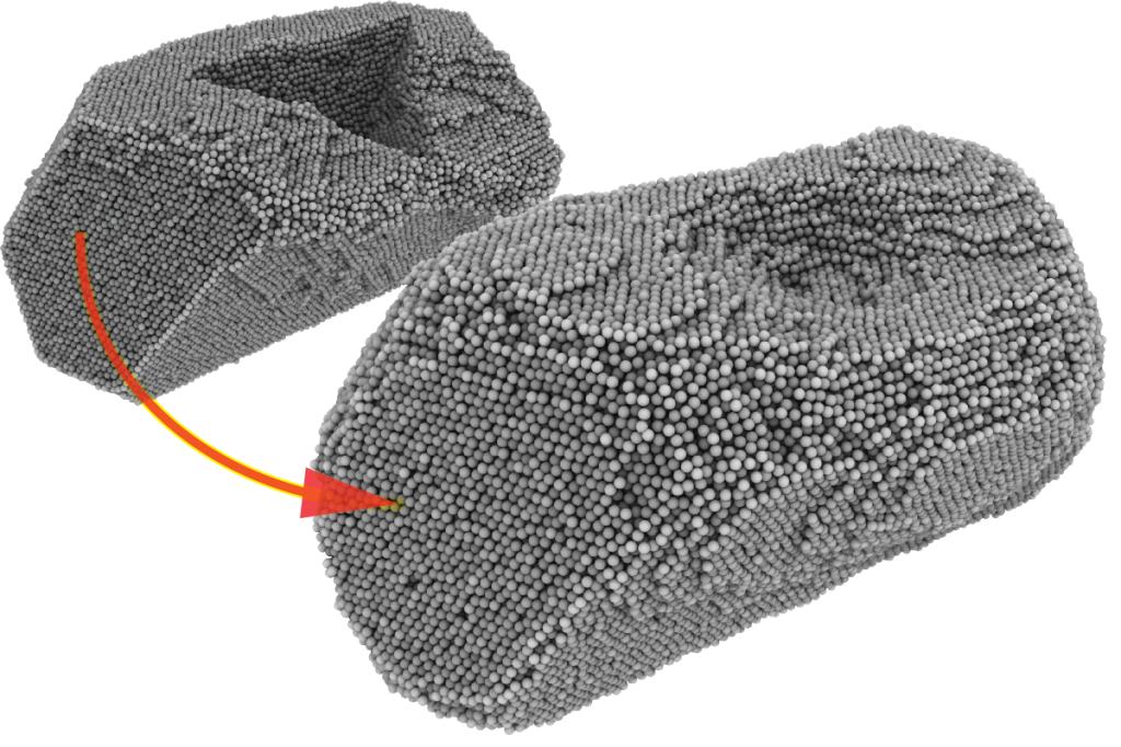 Selfhealing Au nanoparticle